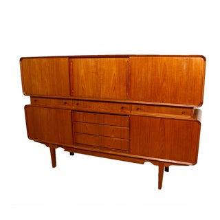 Rare Danish Modern Teak Highboard / Bar Cabinet