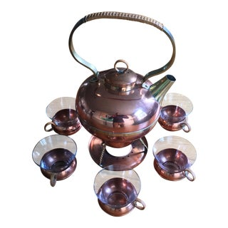 Mid-Century German Copper Tea/Coffee Set