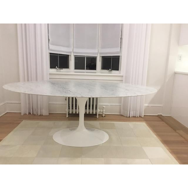 Knoll & Eero Saarinen White Dining Table - Image 5 of 11