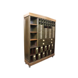 Vintage Industrial 1920s Courthouse Cabinet
