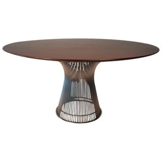 Warren Platner Dining Table in Dark Walnut