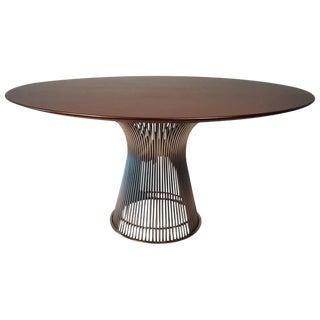 Warren Platner Dining Table in Dark Walnut