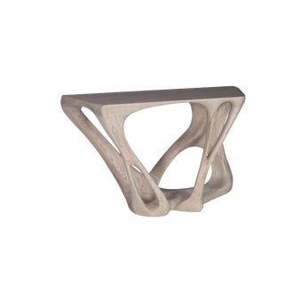 Sculptural Wooden Console Table