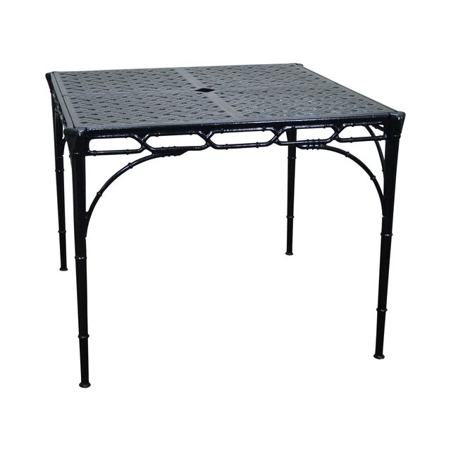 Hollywood Regency Faux Bamboo Patio Dining Table Chairish