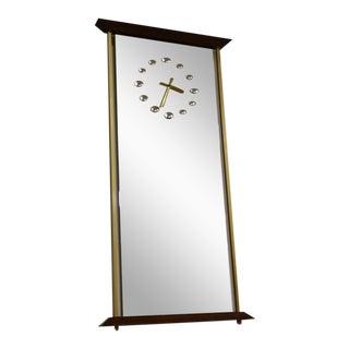 Brass & Mirrored Clock
