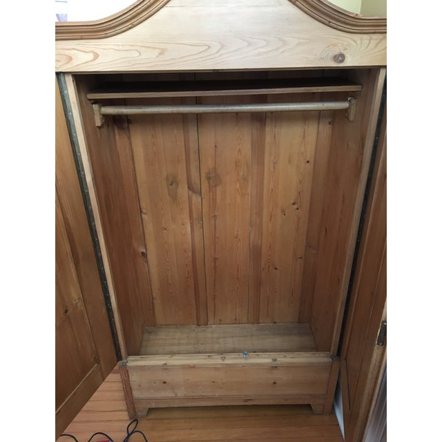 Antique Traditional Pine Armoire - Image 6 of 8