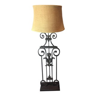 Pottery Barn Figural Tuscan Scroll Sabina Floor Lamp
