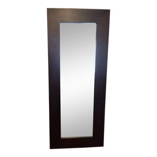Contemporary Brown Frame Large Mirror