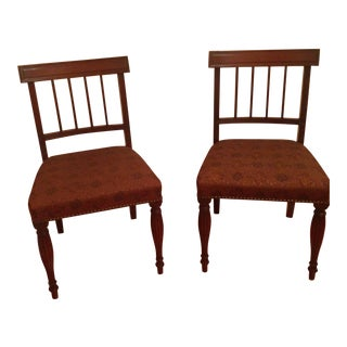 Cherry Wood Side Chairs - A Pair