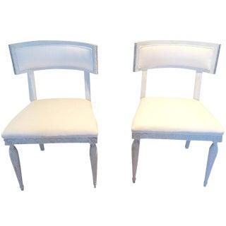 Gray & White Chairs - A Pair