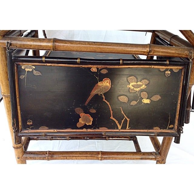 Image of Chinoiserie Black Lacquered Table