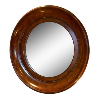 Handsome Burlwood Convex Mirror