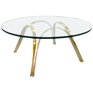 Sculptural Brass Coffee Table by Tri-Mark