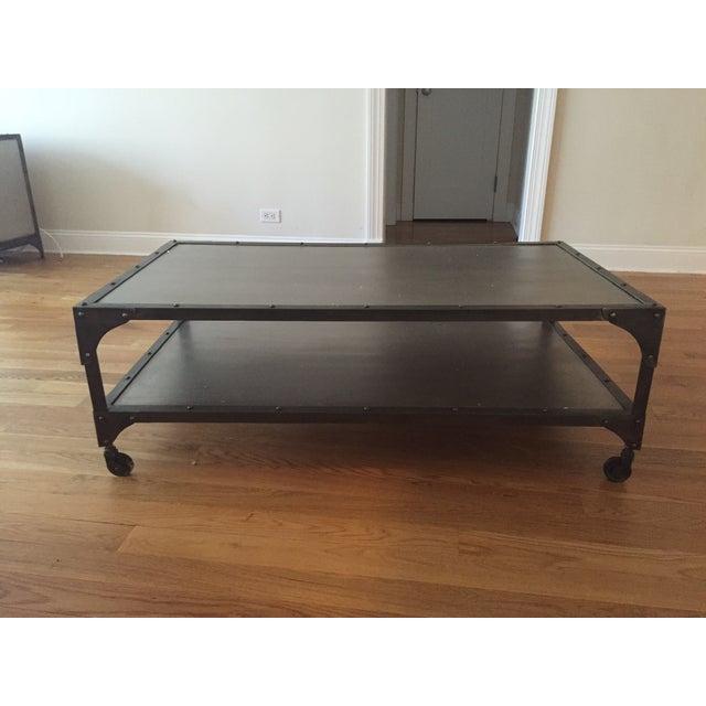 Industrial Metal Coffee Table - Image 2 of 5