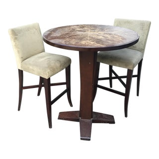 Vintage Crate & Barrel Bar Table and Chairs - S/3