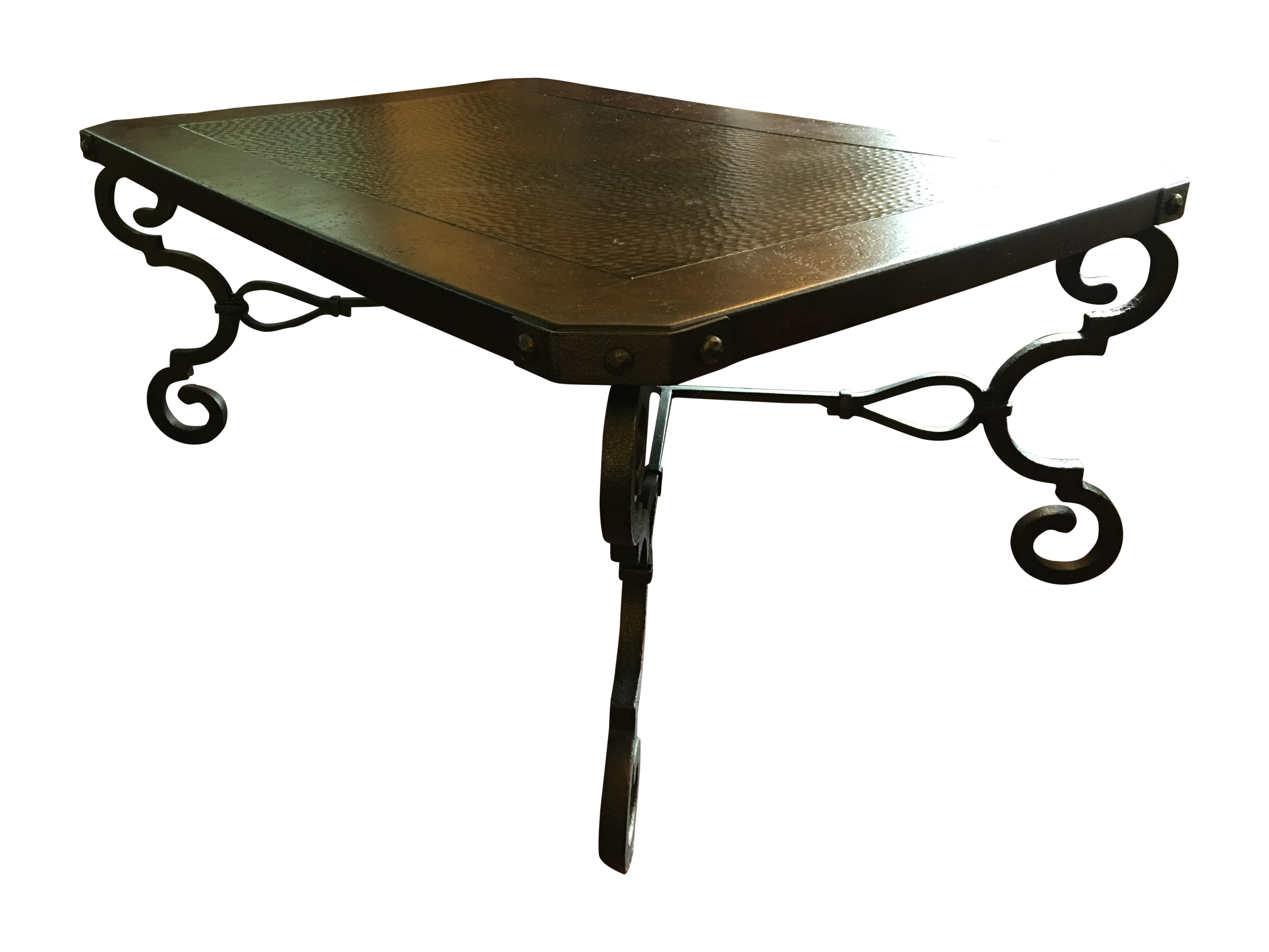 Burnhardt Furniture Hammered Copper Coffee Table