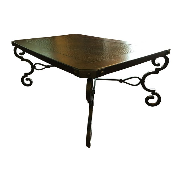 Burnhardt Furniture Hammered Copper Coffee Table Chairish