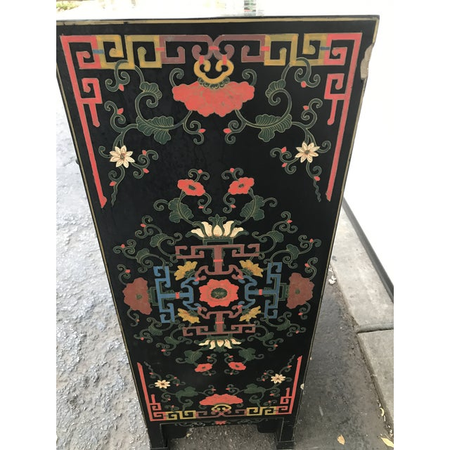 Hand Painted Chinoiserie Cabinet - Image 7 of 10