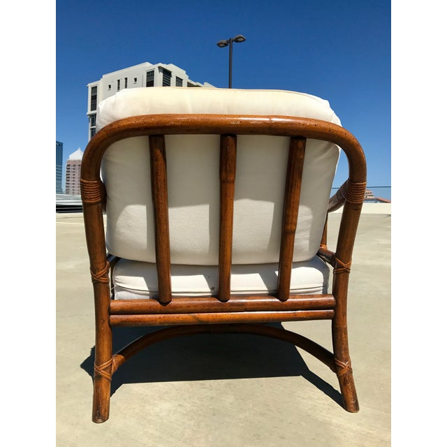 Image of Ficks Reed Lounge Chair with Ottoman & Table