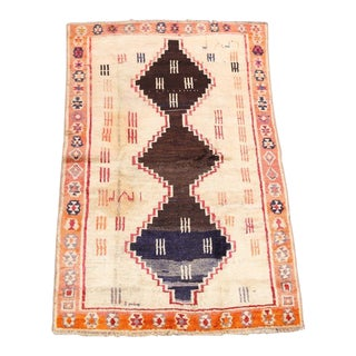 Semi Antique Tribal Gabbeh Rug - 3′10″ × 6′1″