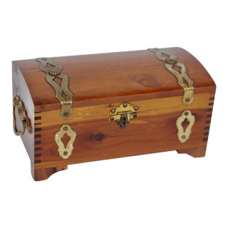 Vintage Cedar Trinket Box