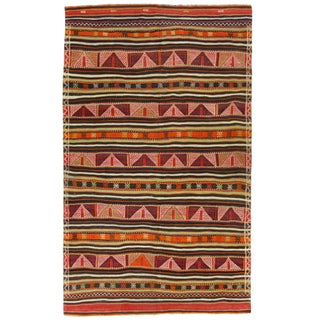 Vintage Turkish Kilim Rug - 5'3 x 8'8