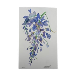 """Weeping Wisteria 1"" Original Watercolor Painting"