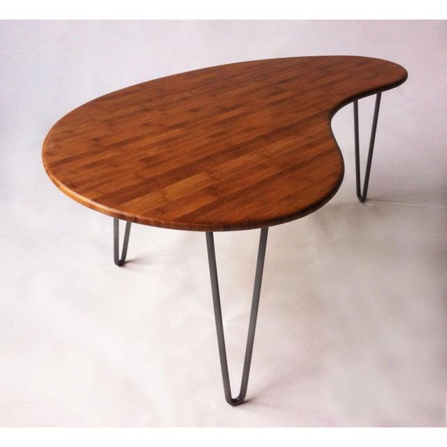 Mid-Century Style Kidney Bean Bamboo Coffee Table