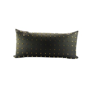 Spiked Faux Leather Handmade Lumbar Pillow
