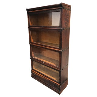 Antique Macey Tiger Oak Barrister Bookcase