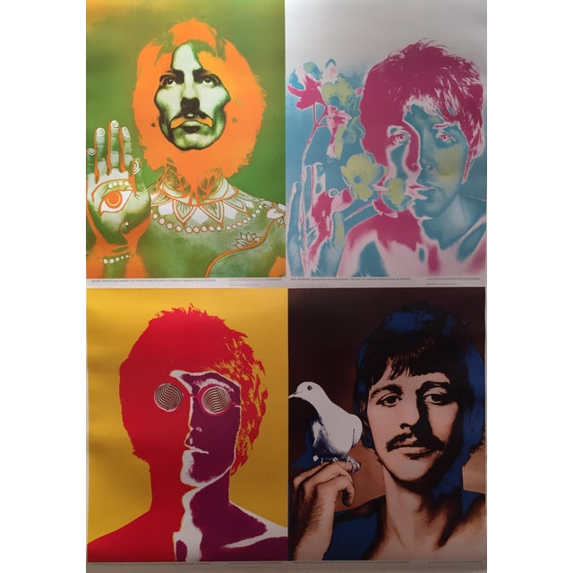 Vintage 1967 Beatles Montage Poster by Richard Avedon ...