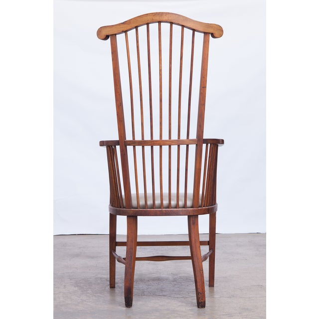 Arts & Crafts Style Spindle Back Armchair - Image 5 of 5