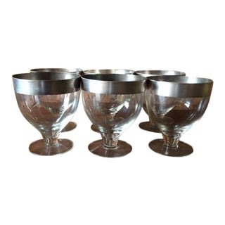 Dorothy Thorpe Silver Trim Large Glasses - Set of 6