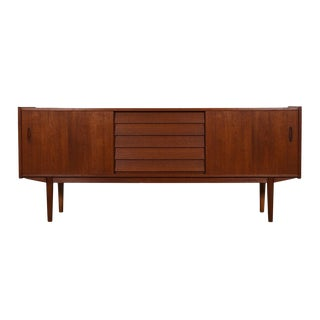 Swedish Modern Teak Sideboard / Credenza with Louvered Drawers