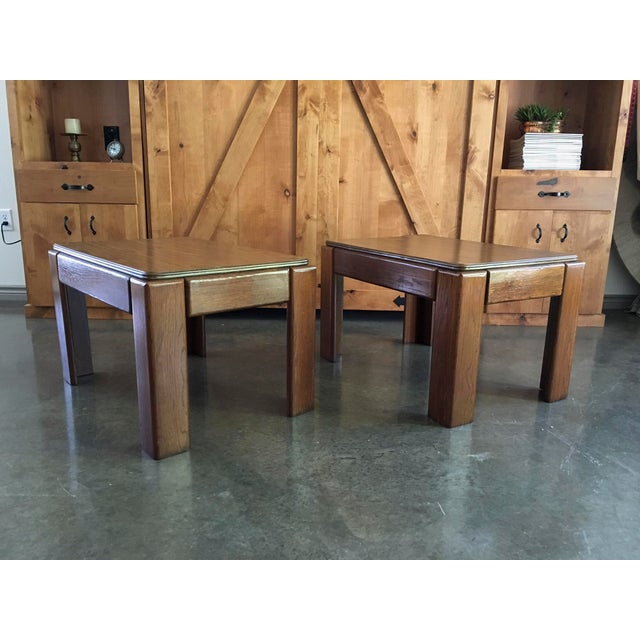 Mid-Century Parsons Style Side Tables - A Pair - Image 3 of 8