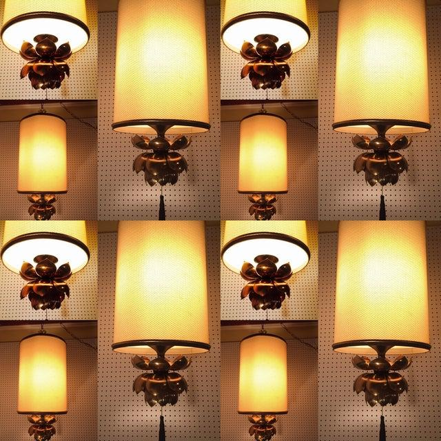 Feldman Brass Lotus Flower Hanging Drum Lamp - Image 8 of 8