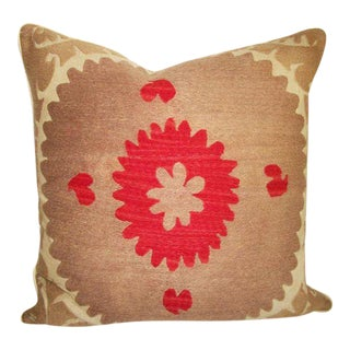 Vintage Embroidered Persian Accent Pillow