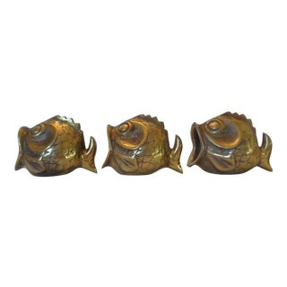 Walter Bosse Style Fish Ashtrays - Set of 3