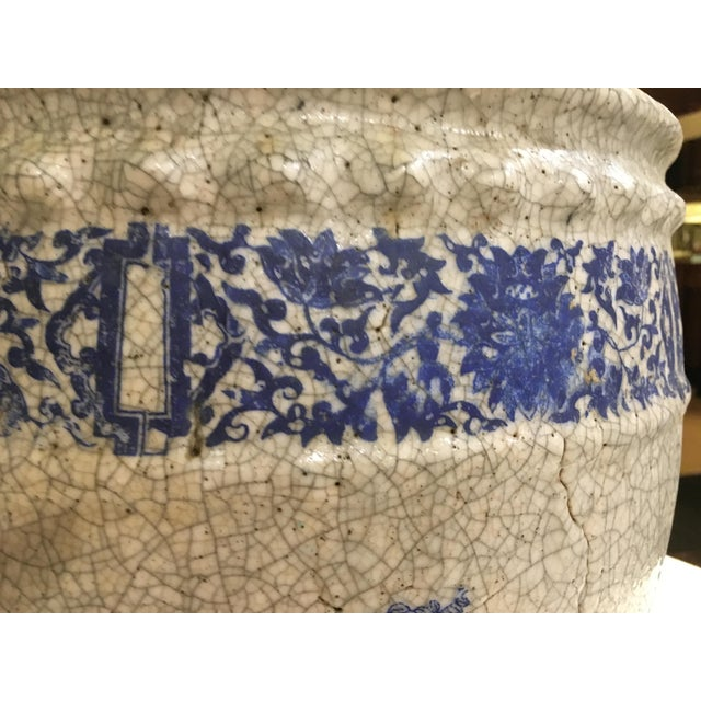 Planter With Blue Pastoral Scene - Image 7 of 10