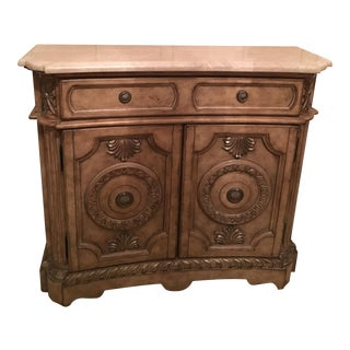 Marble Topped Taupe Console