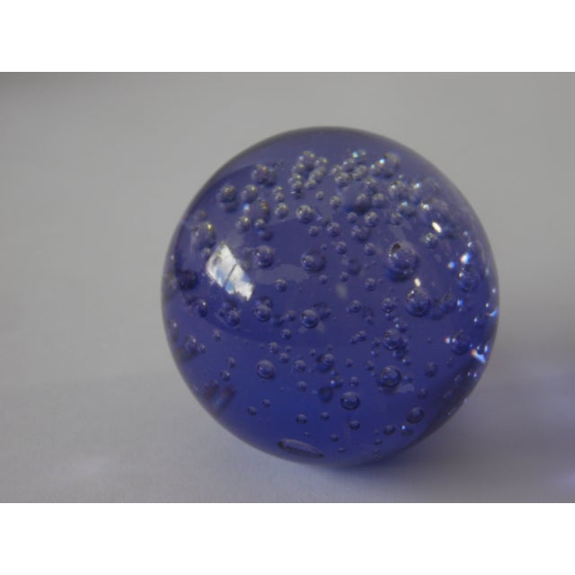 Pair Controlled Bubble Glass Paperweight - Image 5 of 8