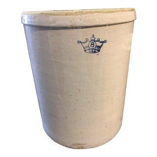 Vintage 8 Gallon Robinson Stoneware Crock