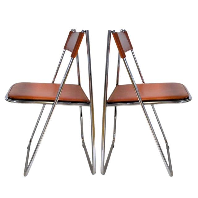 Tamara Folding Chairs by Arrben - A Pair - Image 1 of 7