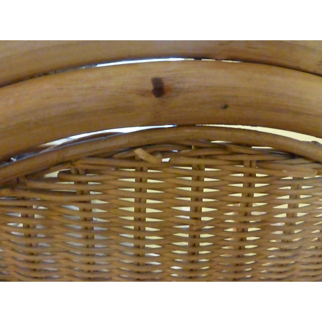 Vintage Rattan & Bamboo Chair - Image 7 of 8