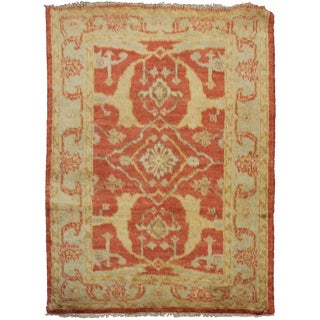 Aara Rugs Inc. Hand Knotted Fine Oushak Rug - 3′5″ × 4′10″
