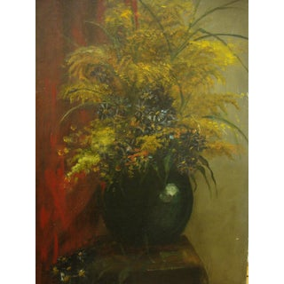 Early 20th Ctry Oil on Canvas Board Still Life