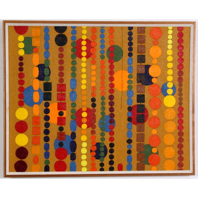 Beaded Curtain Painting by D. Schiller - Image 2 of 4