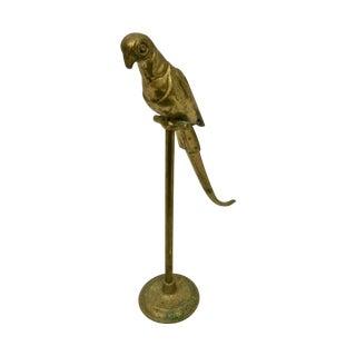 Brass Bird on Stand