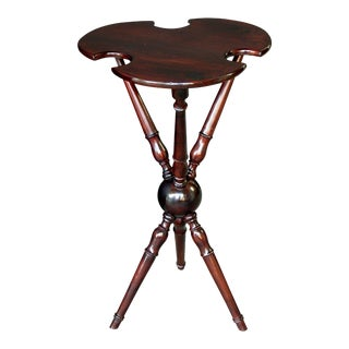 A Charming English Edwardian Cherrywood Tripod Croquet Table