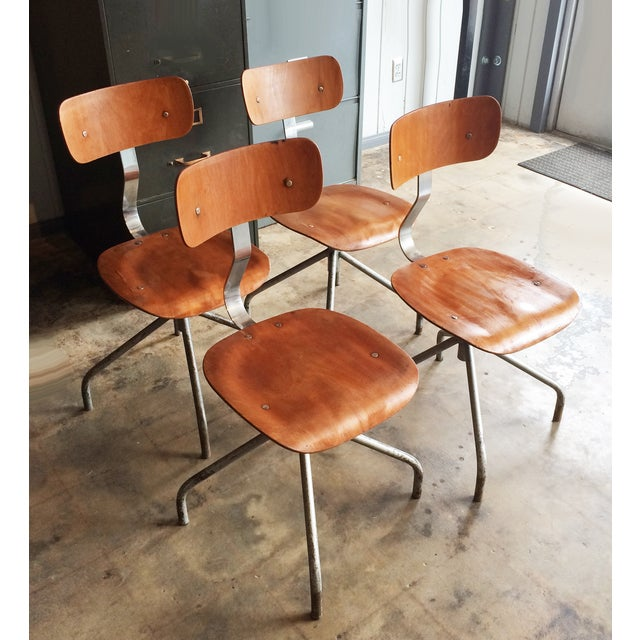 Vintage French Industrial Factory Stools - 4 - Image 10 of 10